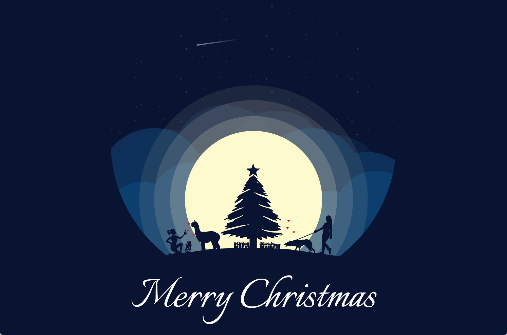 Screenshot of the Christmas Card created with HTML, CSS, and SVG